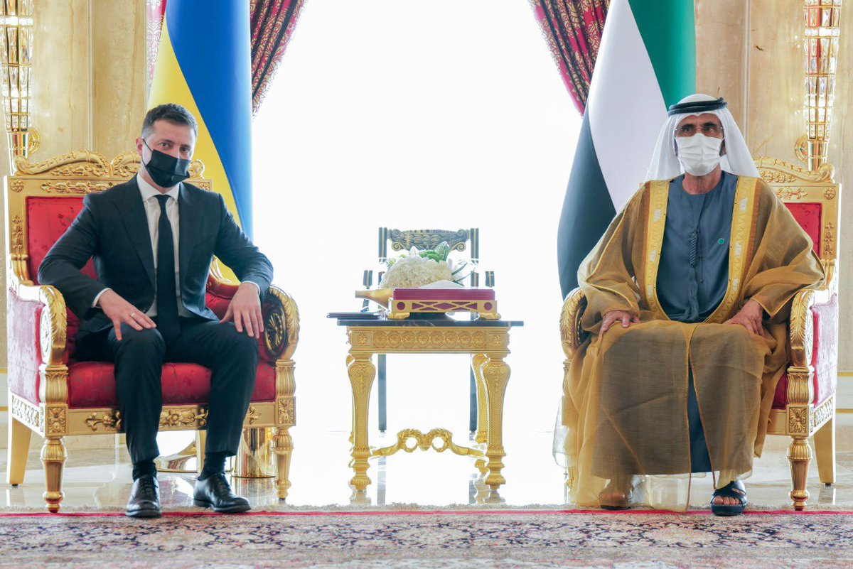 With Ukrainian President Volodymyr Zelensky in Dubai on his first visit to the Middle East. We have a mutual visa waiver agreement and a fast-growing $1 billion trade exchange. Dubai is home to 200 large Ukranian companies. We look forward to growing our bilateral ties.