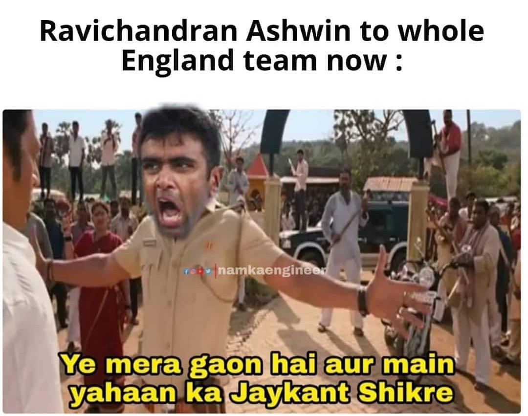 😂😂😂 #Ashwin #Ashwin100 #ComeonnAshh #INDvsENG #Chepauk #ChepaukStadium #homeground