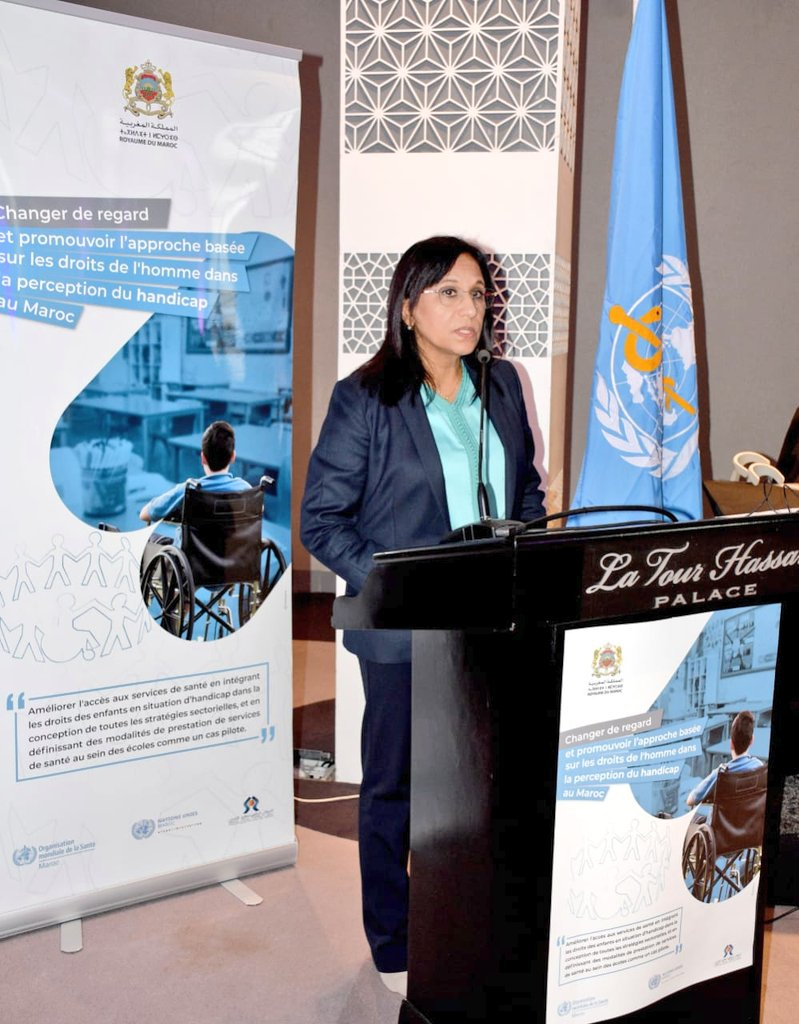 CNDH Chairperson @AminaBouayach and @WHO Rep to #Morocco @maryam_bigdeli chaired today an event to launch a series of training & awareness-raising activities, in Rabat and Casablanca, aiming to promote participation & inclusive education... and to protect children w/ disabilities https://t.co/g8IEEpgFqd