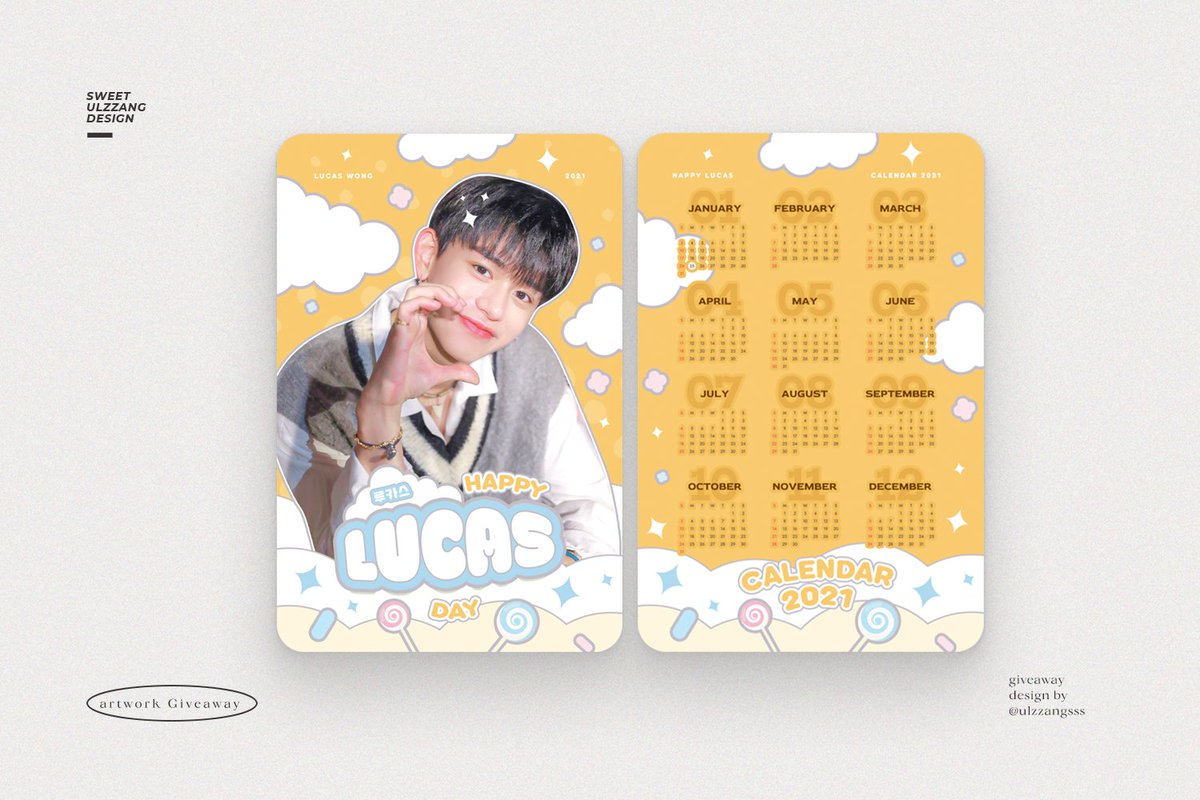 ....Pls Retweet....   ❤️GIVE AWAY LUCAS❤️  🦁 Calendar&Polaroid : 100 EA  📌 : Eattention Please 🗓 : 7 March 2021 ⏰ : 10.00-18.00  มารับเจ้าคัสกันเยอะๆนะคะ  #theillumerence_LC #HappyLucasDay #LUCAS #shinebrightlikelucas2021 Design by : @ulzzangsss