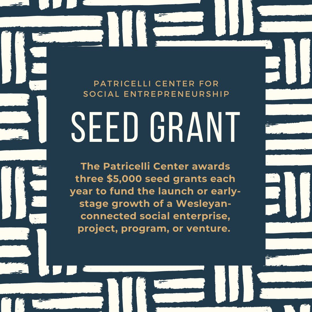 test Twitter Media - Interested in receiving funding for a social enterprise? The Patricelli Center for Social Entrepreneurship awards three $5,000 seed grants each year to fund projects or ventures that address a social problem. Round 1 applications are due February 28th! https://t.co/qqqNLwL3Uz https://t.co/EByqGR5Goa
