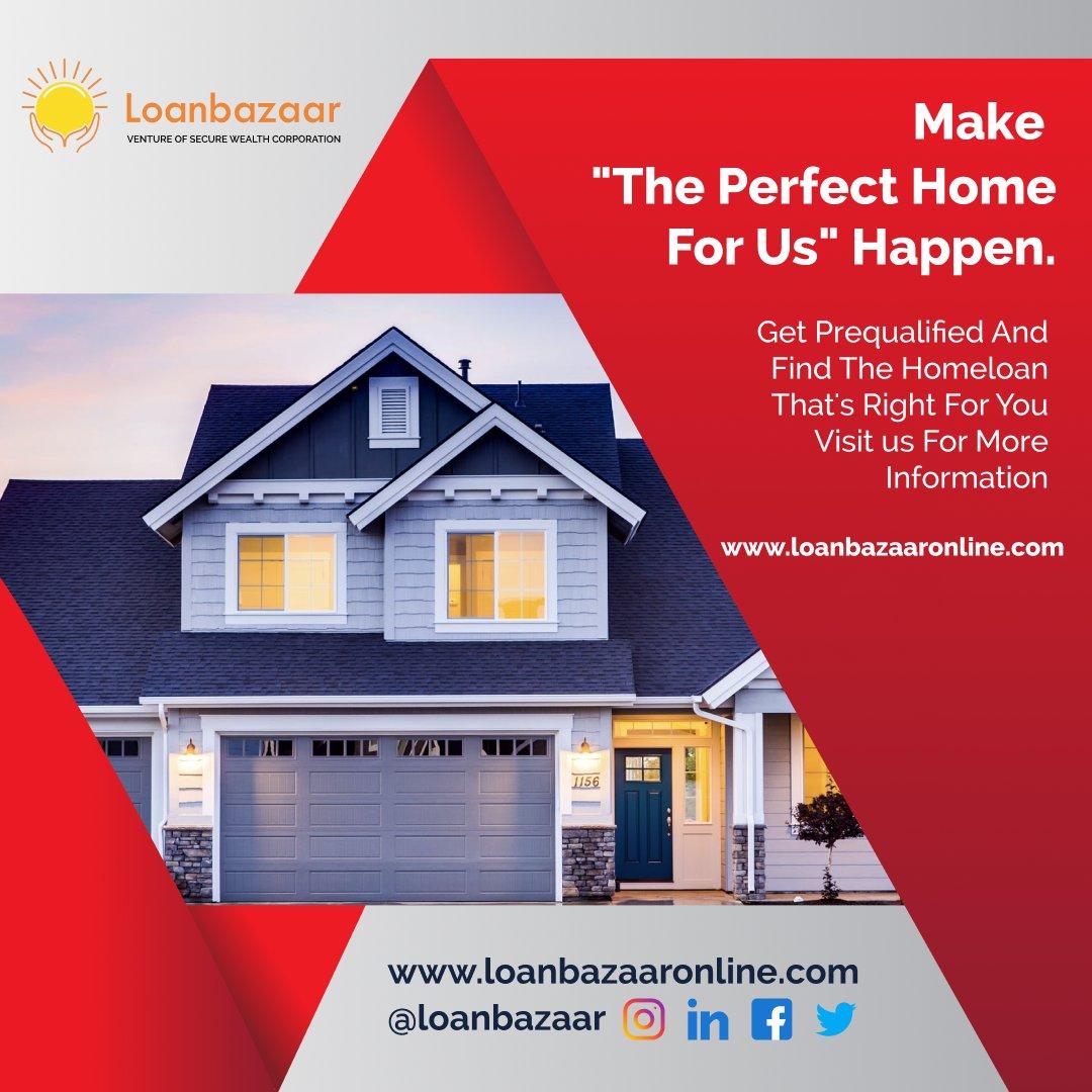 "Make ""The Perfect Home For Us"" Happen. Visit us For More Information  #Loanbazaar #Loanbazaarfinance  #Mortage #Business #Financing #Loanapproved #Loanbank #Homeloan #Homeloanlife #Apnaghar #Homeloanprovider #Onlineloanapplication #Homeloanfinance"