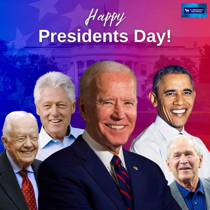 #HappyPresidentsDay to current and all previous legitimate presidents. #fucktrump #LoserInChief #cult45