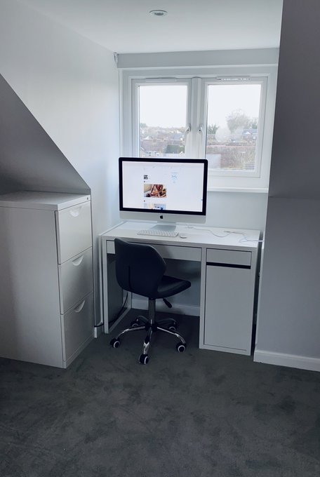 Fan and Work area almost complete 🤩 Now off to construct Kai's makeup drawers 🤕 https://t.co/SqYVzKq