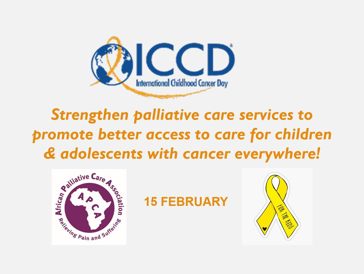 #InternationalChildhoodCancerDay This #ICCDay, we rally behind the vision where all children & adolescents with cancer benefit from the best possible treatment, care & support regardless of where they live in the world. @ICPCNNow @UNICEFAfrica @DrLuyirika