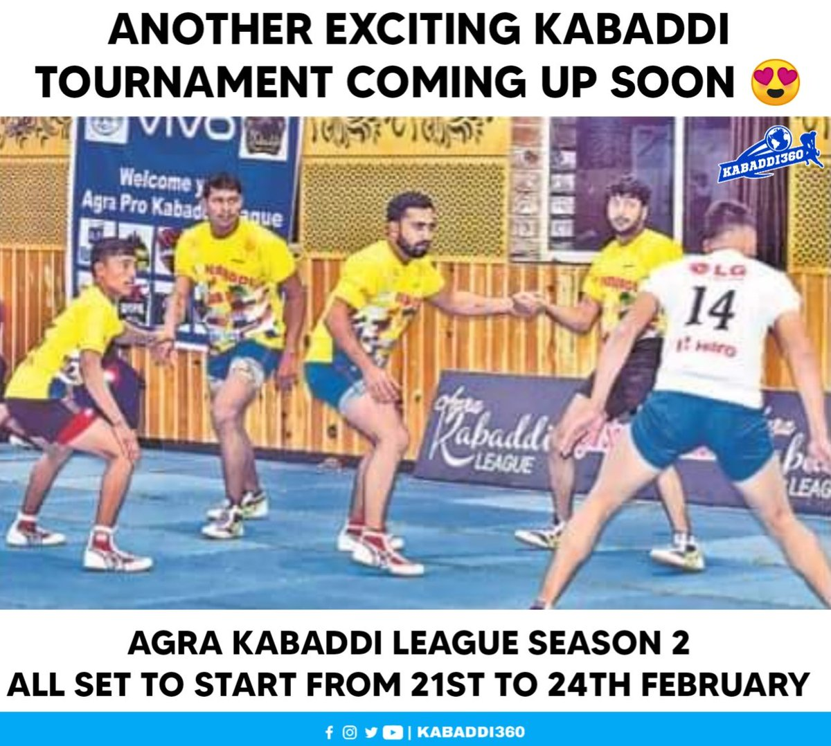 A Surprise is coming soon for our Kabaddi fans 🥳🎉 This tournament will feature some of the Pro Kabaddi players as well.   #AgraKabaddiLeague #Kabaddi360 #Kabaddi