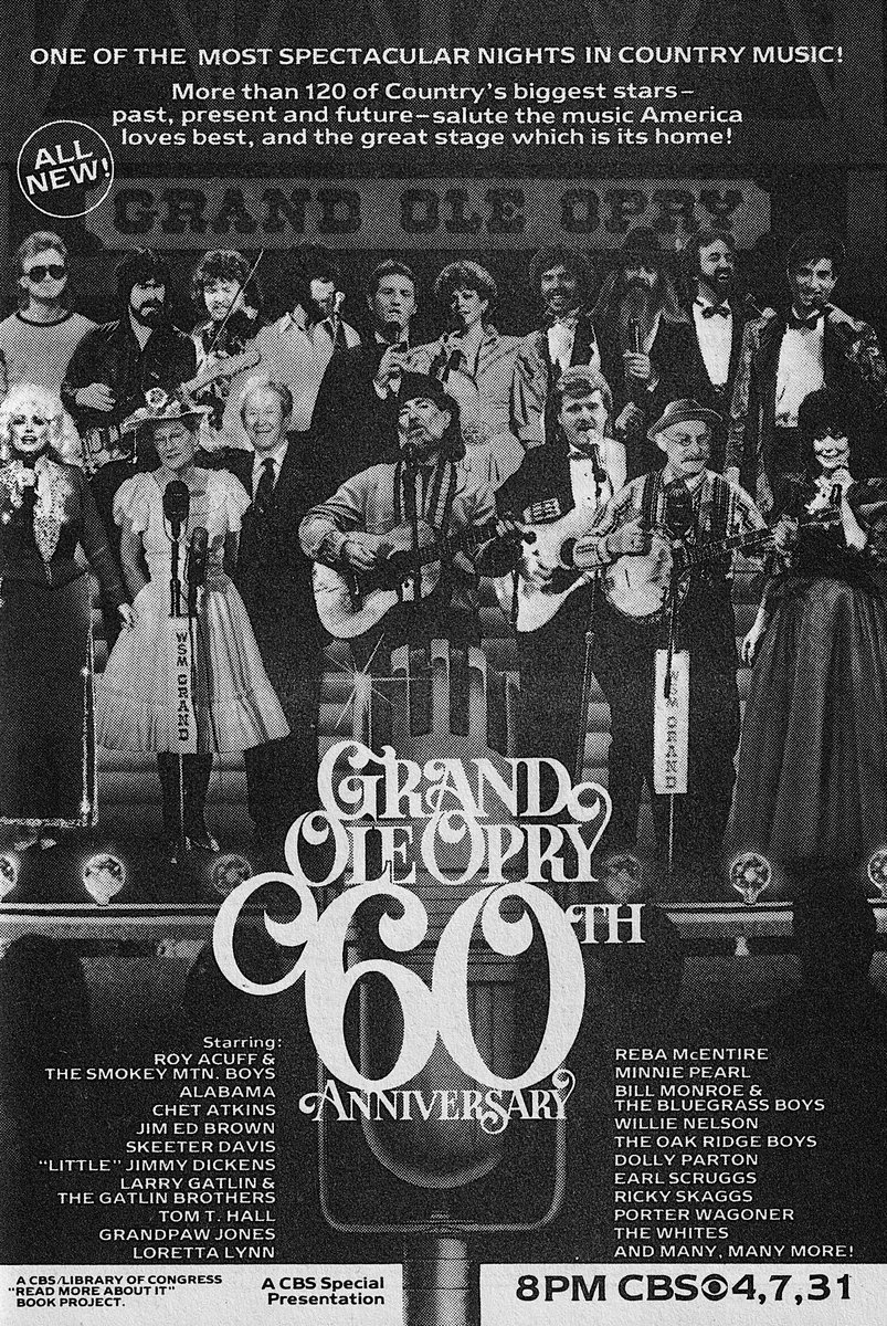 Yes we are celebrating #Opry95 How about this throwback to @opry 60 ... wow...