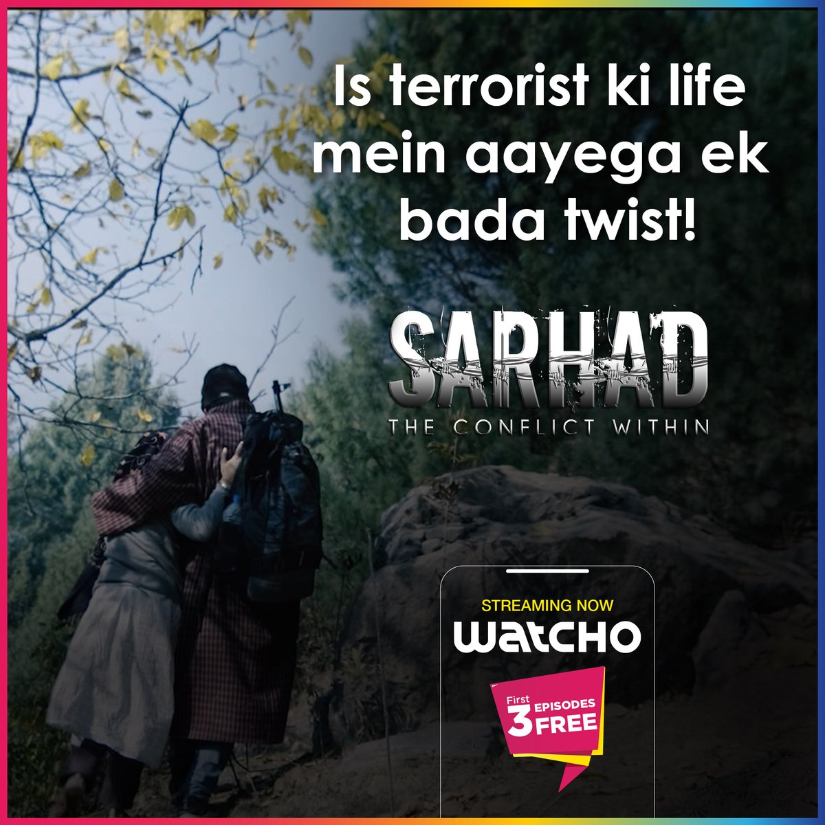 Drama, mystery, thrill, action...sab hai yaha!   Watch Sarhad, streaming now on Watcho.  #LetsWatcho #Watcho #patriotism  #MustWatch  #HappyRepublicDay #Nationalism  #love #patriots #national #ProudIndian   @DishTV_India @officiald2h @PerceptPictures