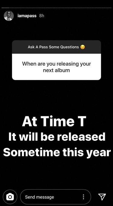 Hint on potential arrival of the album