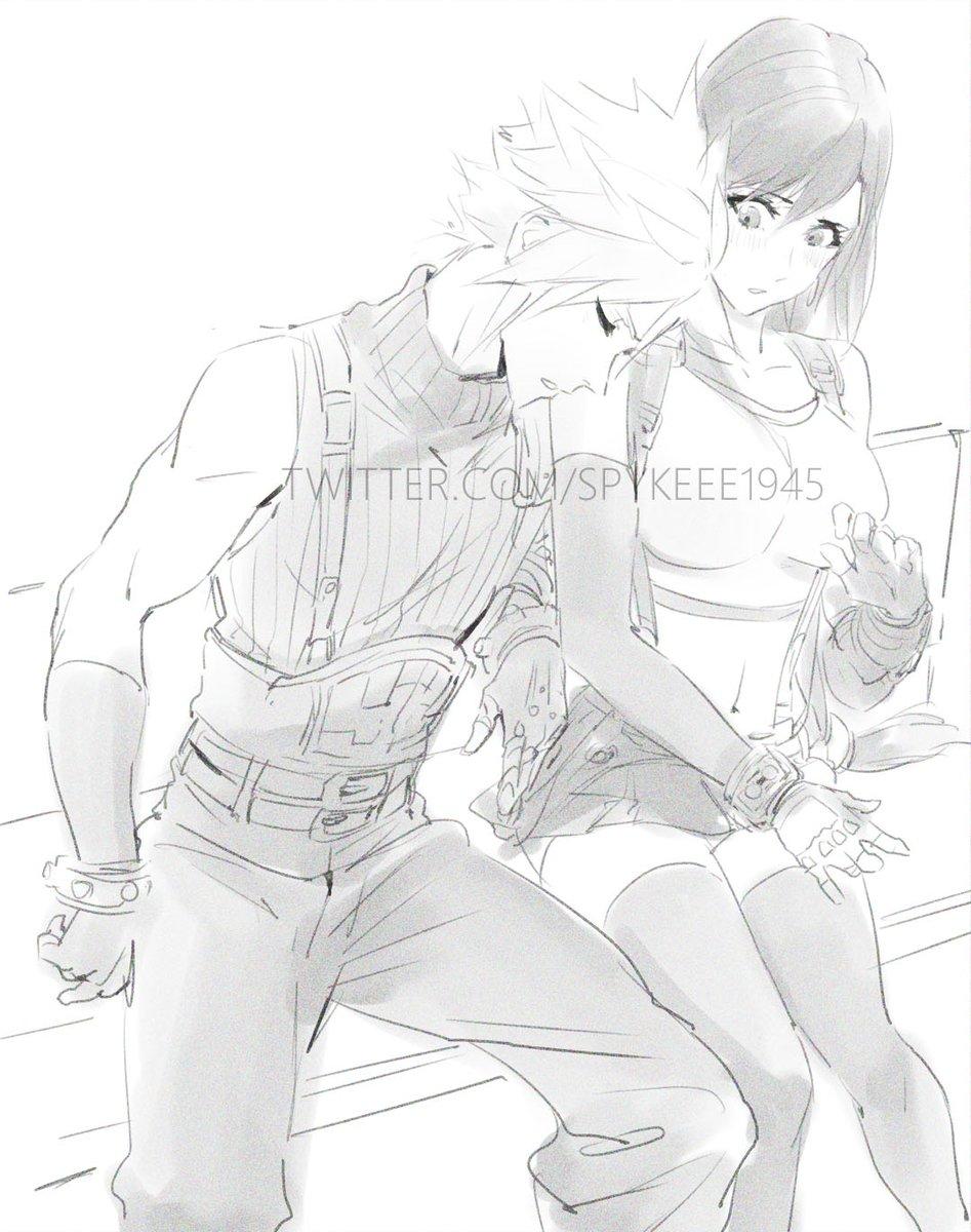 Quick sketch because I miss Cloti.  #FF7 #FF7R #クラテ
