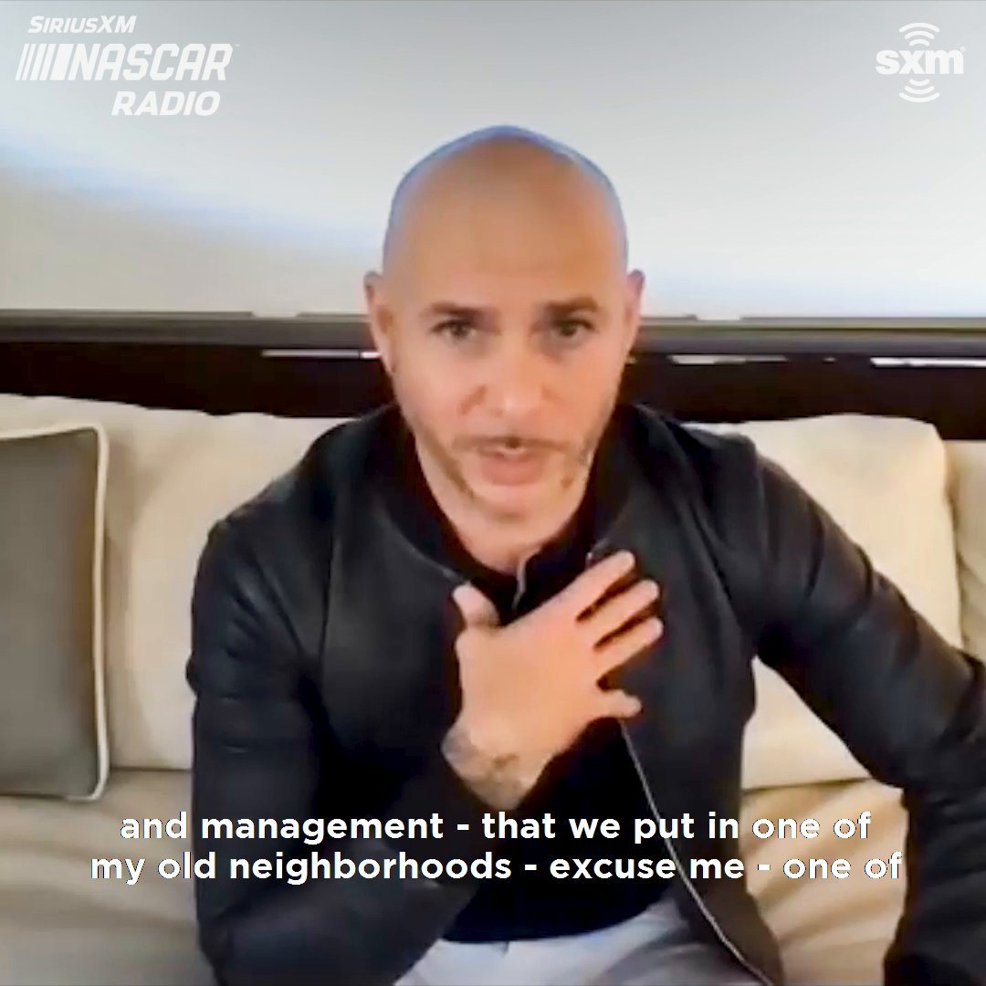 .@pitbull explains what brought him to @NASCAR and what his goals are for the sport. Hear more on @SiriusXMNASCAR.