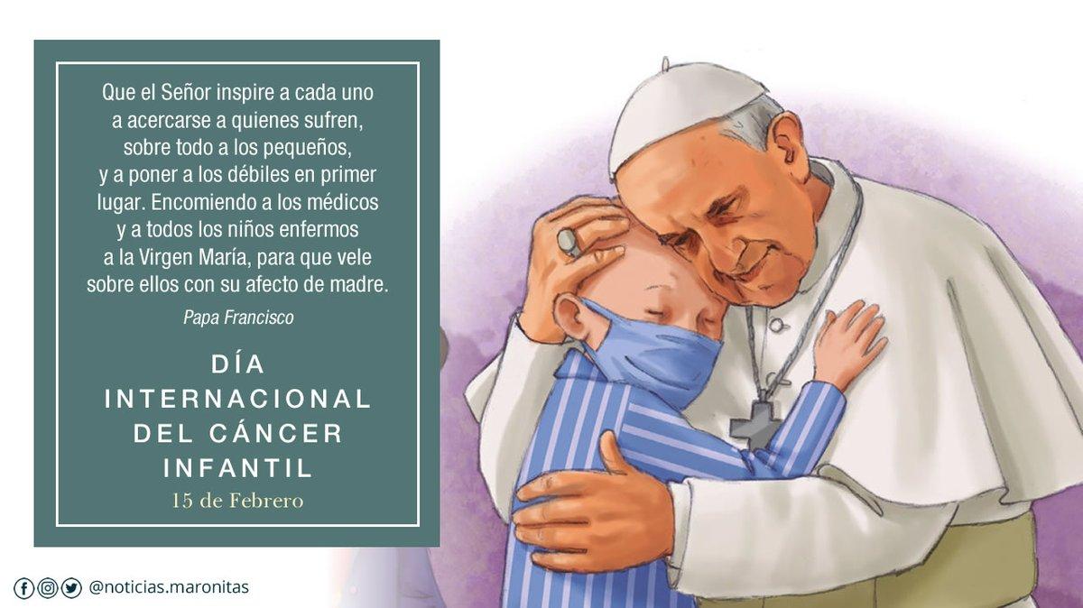 Día Mundial Cáncer Infantil: El Papa encomienda a la Virgen a todos los niños enfermos El Papa dedica su tweet de hoy 15 de febrero a los niños víctima de cáncer. #ICCDay #PopeFrancis #PapaFranciso