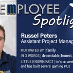 Image for the Tweet beginning: Meet Russel Peters, Assistant Project