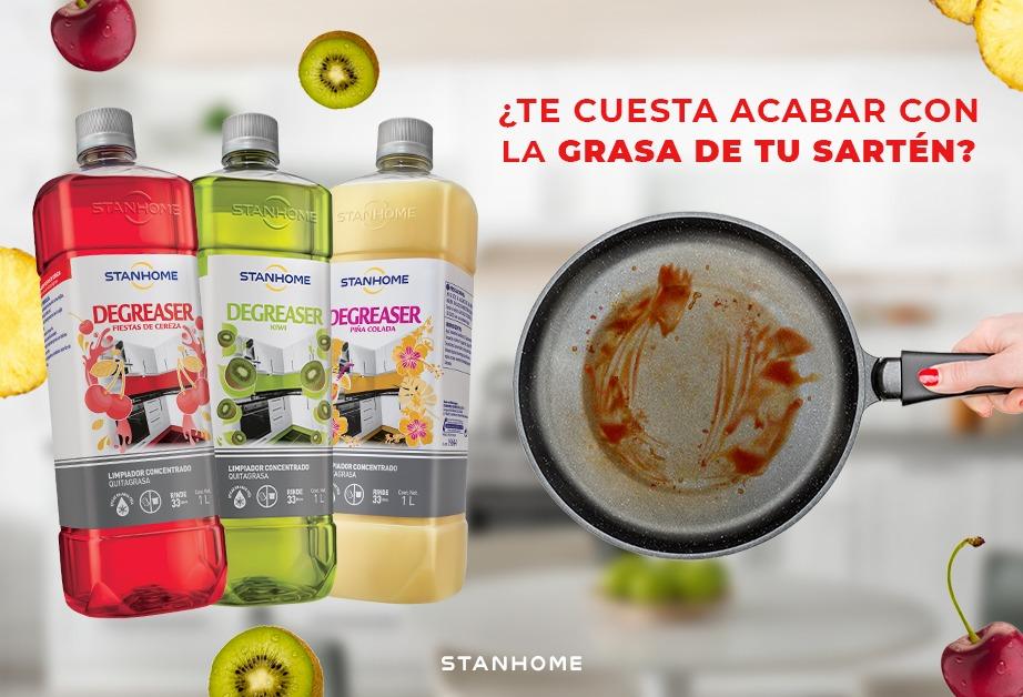Lleva la fiesta a tu cocina con la nueva botella de Degreaser Fiestas de cereza, kiwi y piña colada 🍽️✨🎉  Elimina el 99.99% de bacterias y disuelve la grasa, así que olvídate del cloro y mezclas raras de productos. ¡Disfruta de una cocina perfecta! ✅🆓 https://t.co/ar8Wc589SH