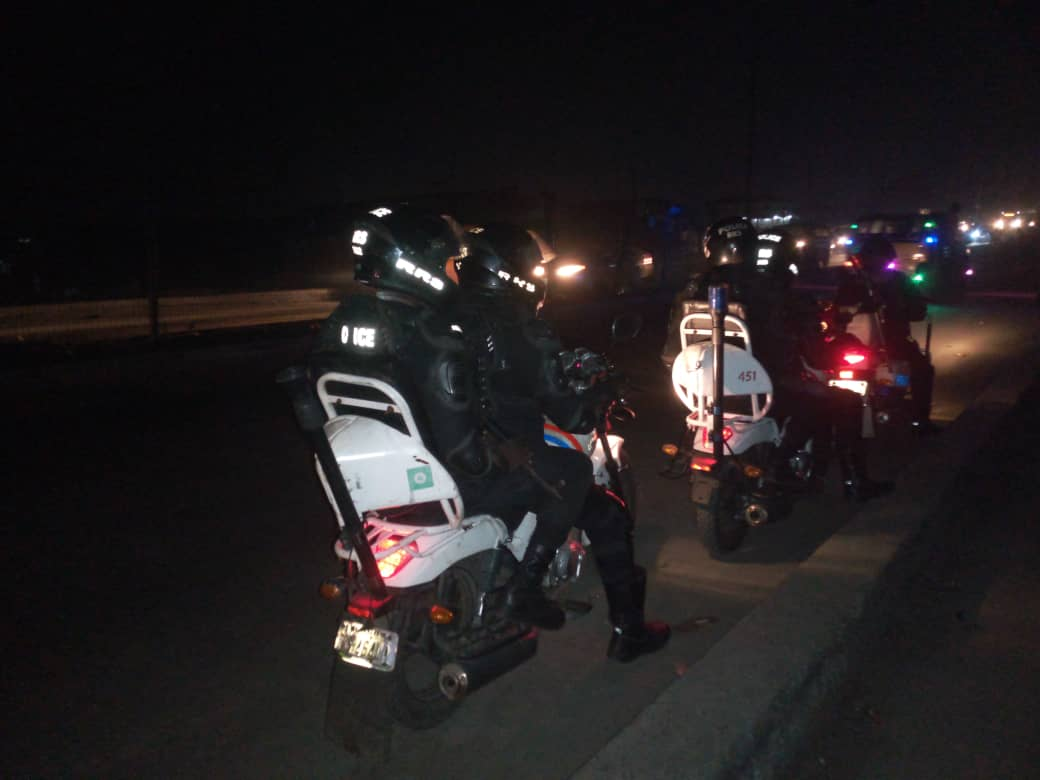 Our officers on night patrol of residential areas and bikers on early morning patrol of highways.