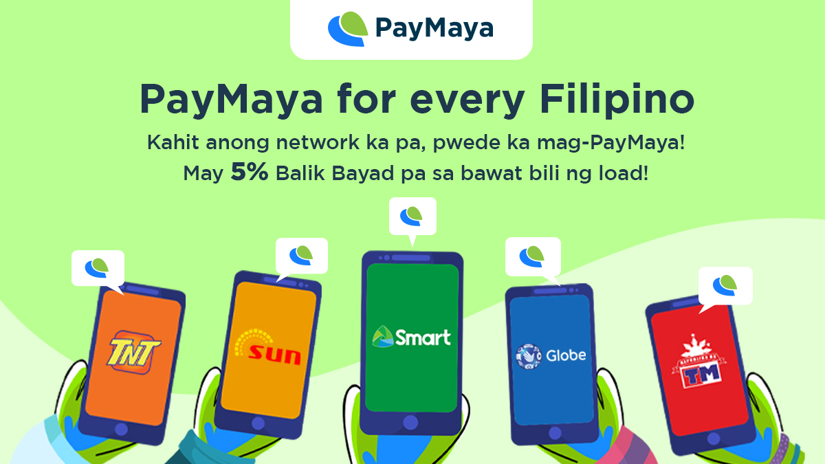 🎵I don't care who you are, where you're from, what you did, as long as you love me...🎵  You can be the Smart-est person around the Globe or under the Sun. You can TnT alone or with your TeaM. Get 5% Balik Bayad with every load purchase using PayMaya for ANY network!