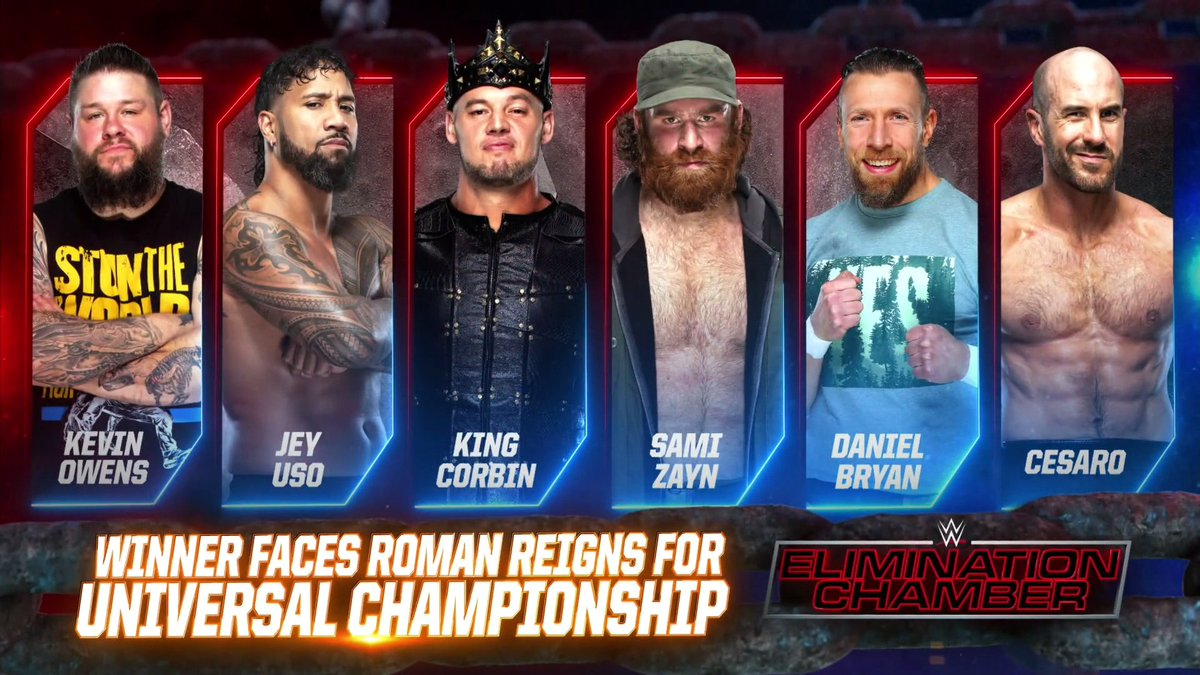 Updated Betting Odds Elimination Chamber