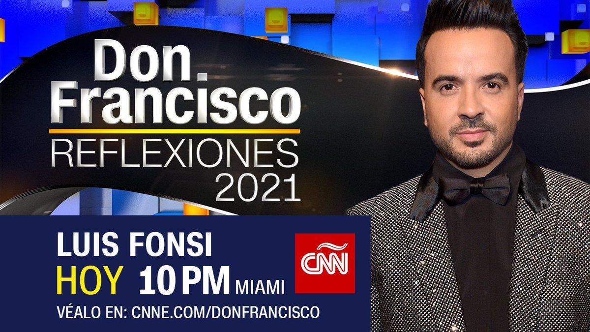 No te pierdas esta noche a @LuisFonsi quien habla con @DonFranciscoTV sobre cómo maneja la fama. La cita es a las 10pmMIAMI, ¡Te esperamos! #DonFranciscoCNN