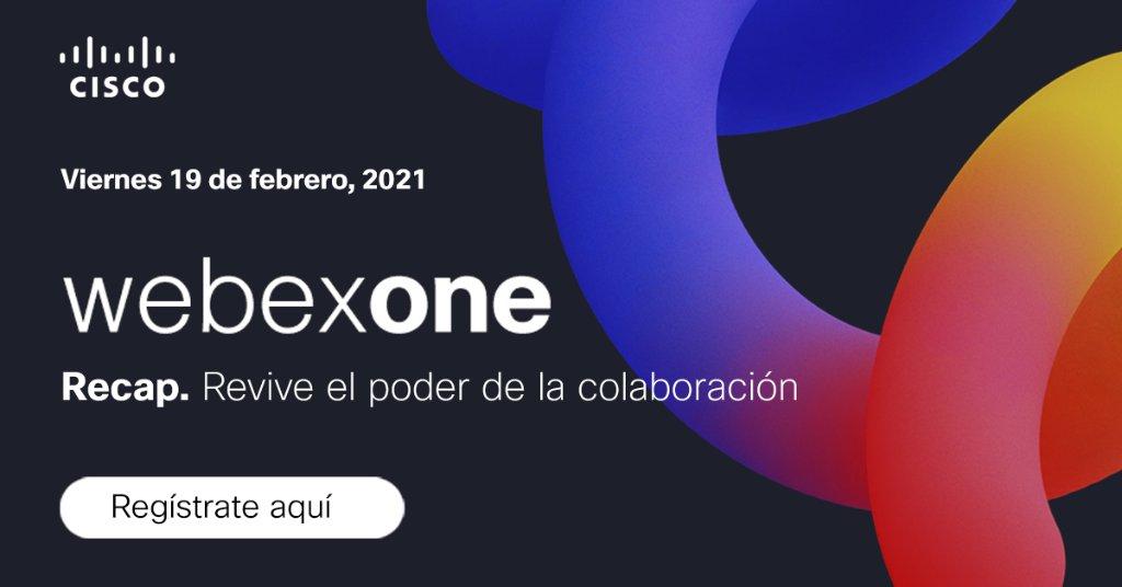 Revive lo mejor del evento #WebexOne, la conferencia exclusiva de colaboración que hicimos en diciembre en la que presentamos todas las innovaciones Webex así como también la perspectiva de los expertos con respecto al futuro del trabajo. Regístrate: