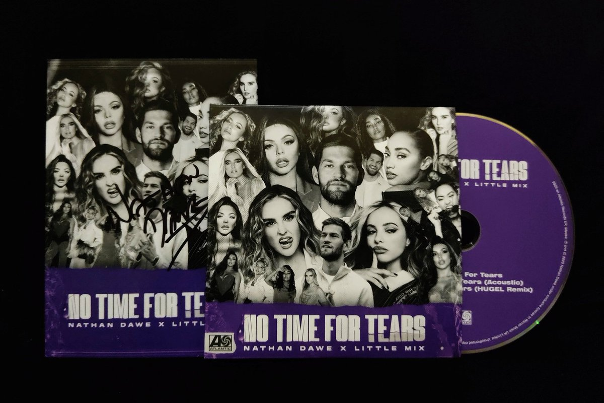 My #NoTimeForTears CD & signed postcard is finally here! 💜 I AM SO HAPPY!!! @NathanDawe x @LittleMix