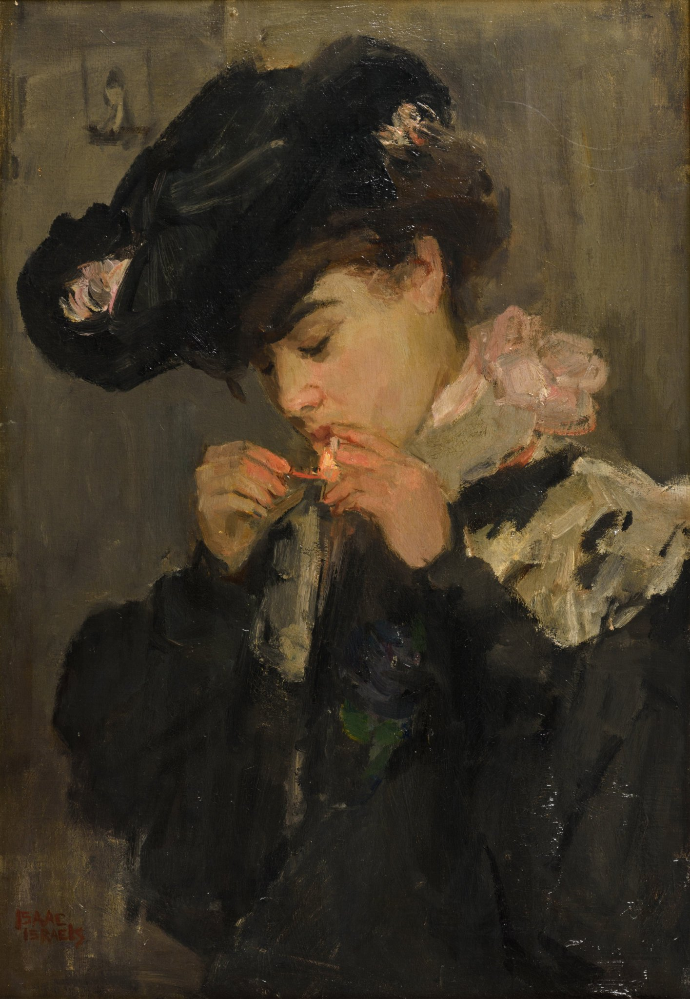 "artnau в Twitter: ""Portrait of a young lady with cigarette, c.1900 by Isaac  Lazarus Israëls… """