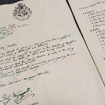 娘さんの誕生日に「ハリーポッターのホグワーツ入学許可証」をプレゼント!素敵