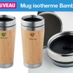 Image for the Tweet beginning: 🆕 Mug isotherme personnalisé Bambou