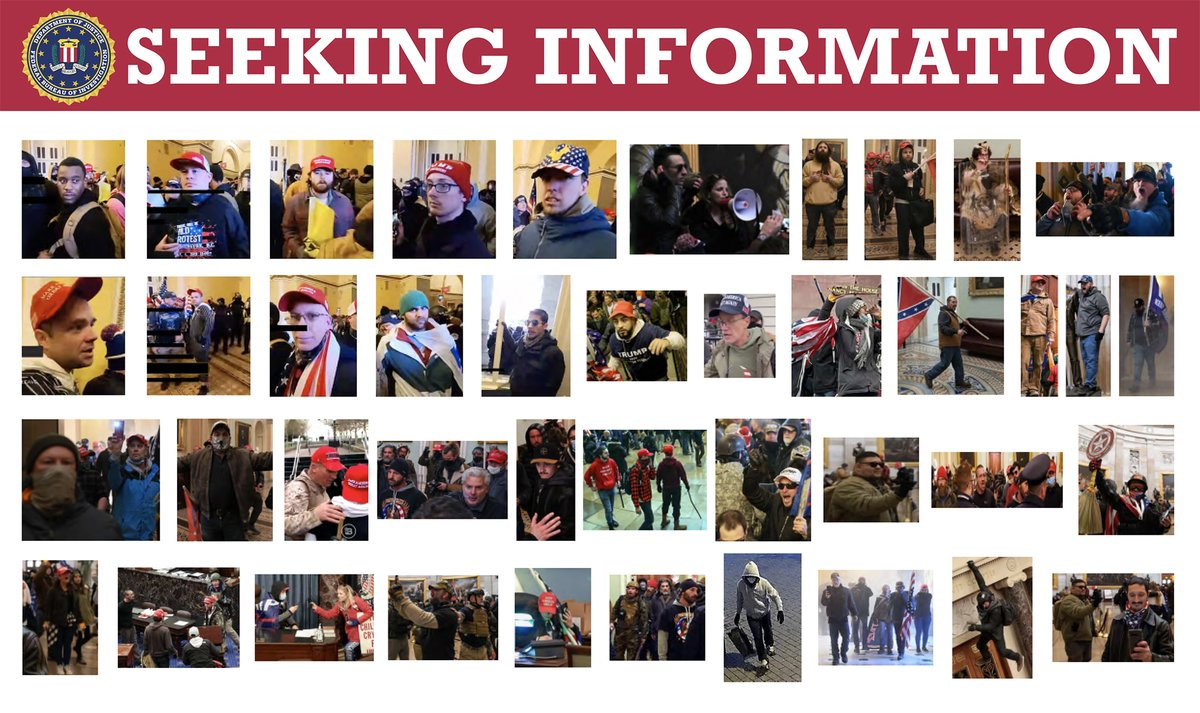 The #FBI is still seeking information to help identify individuals who actively instigated violence on January 6 in Washington, D.C. Visit ow.ly/baDC50DBDUd to see images from current cases, and if you see someone you recognize, submit a tip at tips.fbi.gov.
