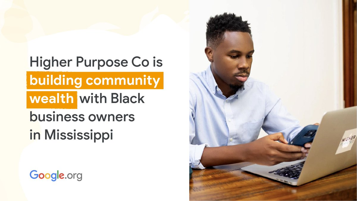 Economic justice nonprofit @higherpurposeco is using support from a $5M #GoogleOrg grant to @commonfutureco to build community wealth with Black business owners. This #BHM, learn more about their CEO @timlampkin & how they are tackling #RacialInjustice: