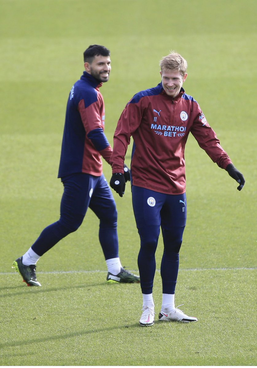 Back in training with @aguerosergiokun