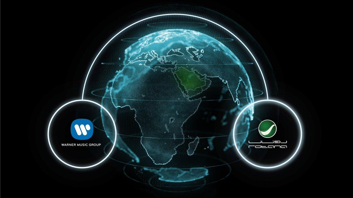مجموعة روتانا الى 🌍 العالمية  والعالمية الى 🇸🇦 السعودية  The Rotana Group goes 🌍 Global  Global comes to 🇸🇦 Saudi  @RotanaMusic @warnermusic