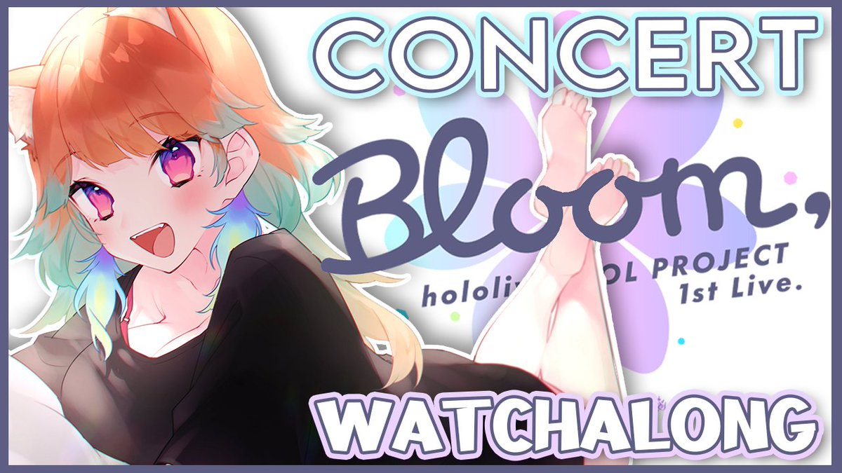 →→ NEXT STREAM 【Bloom, Watchalong】🌸 Bloom同時視聴やります! I will be holding a watchalong of the concert! Ill do my best to translate a bit as in the previous concert! ※I will not be showing live footage, you need to buy a ticket for the concert. youtu.be/yVI1OSM7F98