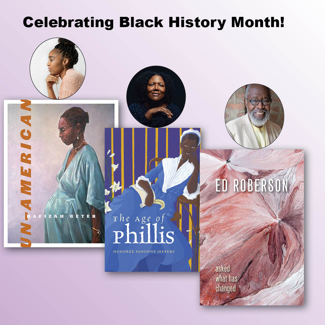 "test Twitter Media - To honor #BlackHistoryMonth, why not read contemporary #BlackAuthors? Enjoy 3 poems from recent #WesleyanPoetry books. From Hafizah Geter's ""Un-American,"" Honorée Fanonne Jeffers' ""The Age of Phillis,"" & Ed Roberson's ""Asked What Has Changed."" #BlackExcellence #AmericanPoets #BLM https://t.co/9dA5KqSVAj"