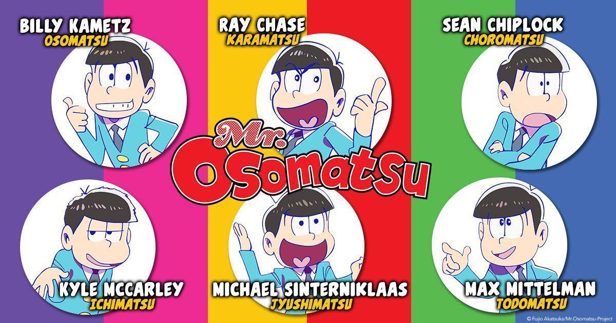 Announcing the English voice cast of Mr. Osomatsu! 📢