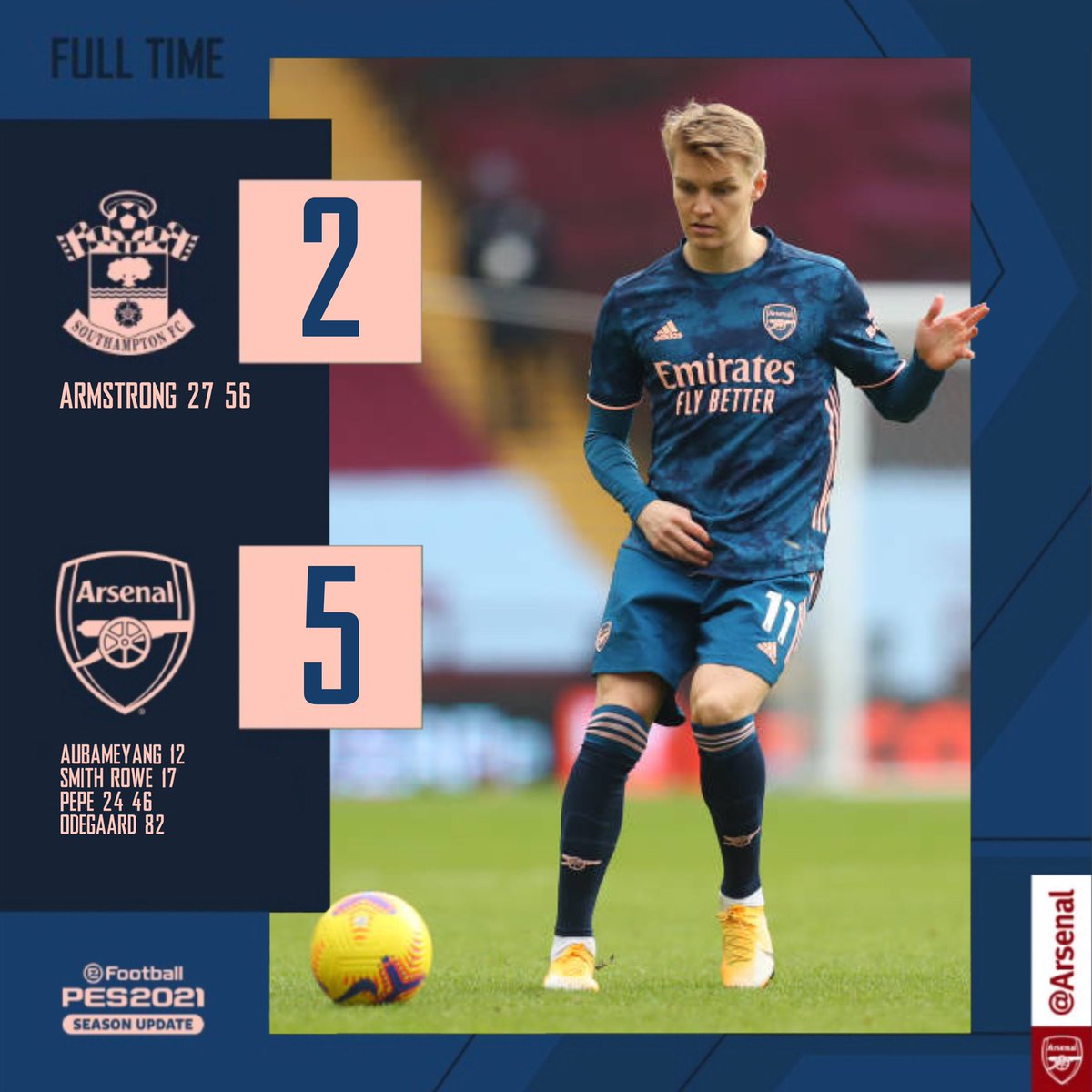 A great performance and a great result 💪  🔴 2-5 🔵(FT)  #SOUARS