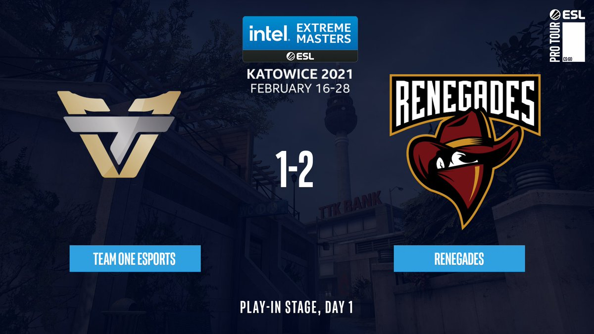 A second chance for @Renegades!  They manage to close out the series against @teamoneesports 2-1 and stay in the #IEM Katowice play-ins!  3-16 Inferno 16-4 Mirage 19-17 Overpass https://t.co/Q7DmF1fYUR