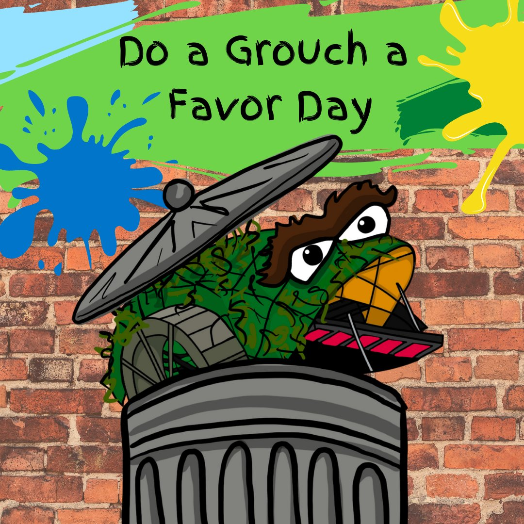 Happy Do a Grouch a Favor Day! Do a Trash Wheel Grouch a favor today by picking up your litter! ♻️