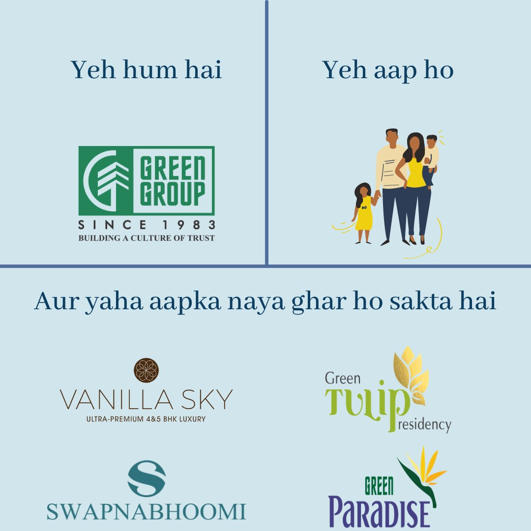Own your dream home at Green Group Projects.  Projects ranging from Budget Homes to Ultra-Premium Homes  Call today for a site visit  9824120022 / 7622000862  #trending #trendingformat #pawwrihoraihai #memes #realestate #ApnaGhar #homebuyers #Surat