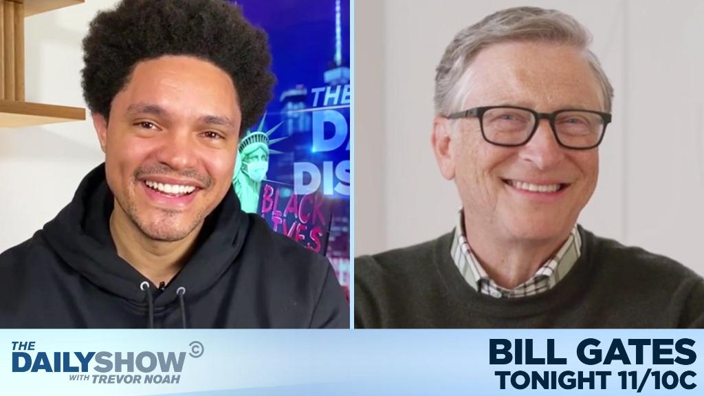 "TONIGHT: @BillGates is here to talk about his new book ""How to Avoid a Climate Disaster."""