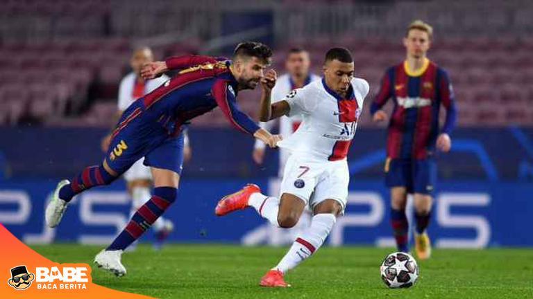 Momen Lucu Barcelona 1-4 PSG, Pique Marahi Sergino Dest Karena Kylian Mbappe #ParisSaintGermainFC #kylianmbappe #GerardPiqué #Oscar #campnou