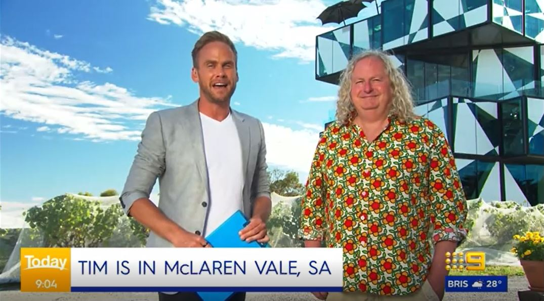 While overseas trips are off, @TourismAus is enticing Aussies to #HolidayHereThisYear. As part of the campaign we've been taking @TheTodayShow's @mr_timdavies across the regions, showcasing our #GreatState & great operators like @darenbergwine. Watch @Channel9 this week for more