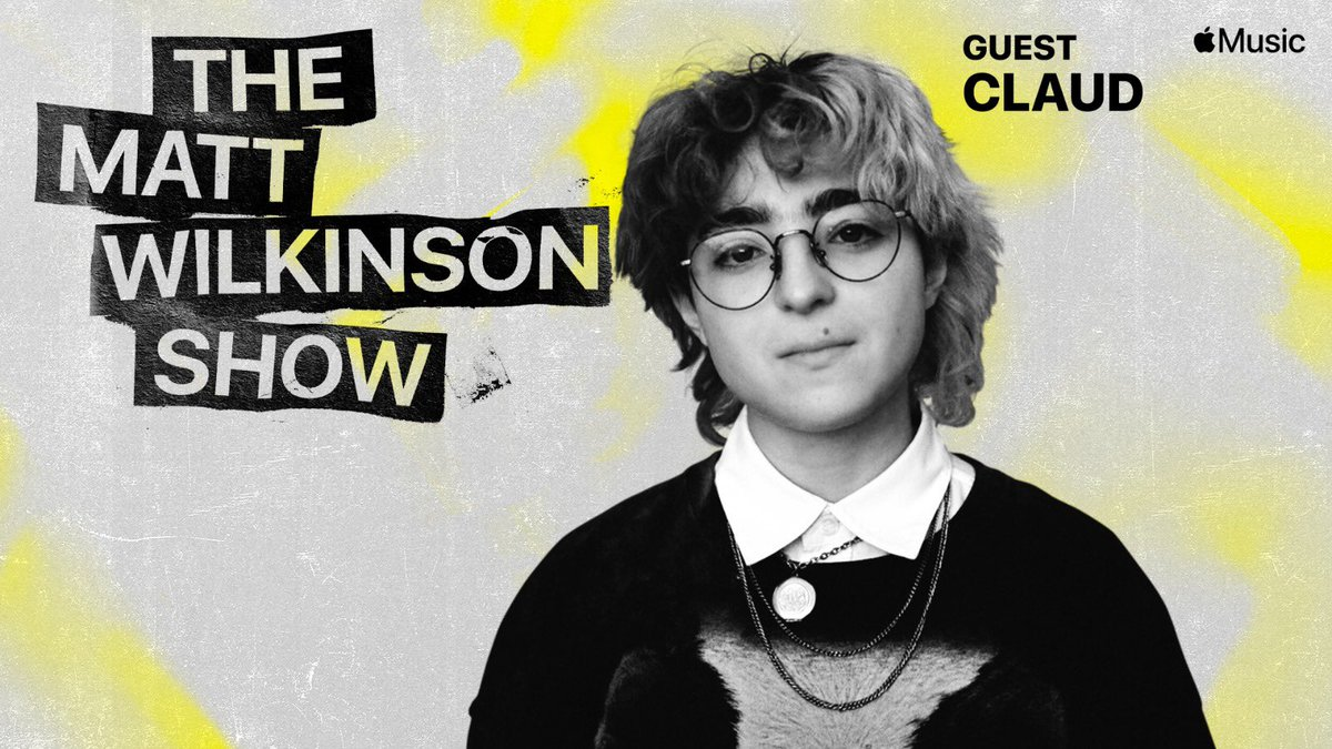 """.@claudmp3 joined me on the show to chat about 'Super Monster,' out now on @SaddestFactory!  Open @AppleMusic and search """"Matt Wilkinson"""" to listen, or click here:"""