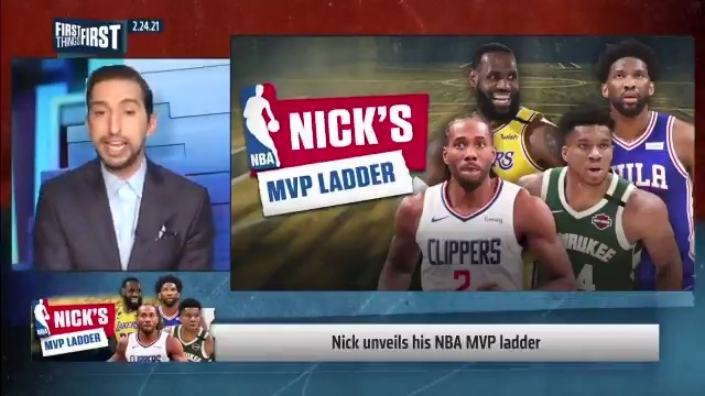Replying to @FTFonFS1: .@getnickwright unveils his NBA MVP ladder:  1. 2.  3. CP3 4.  5. Kawhi  6. 7. Dame 8. Harden