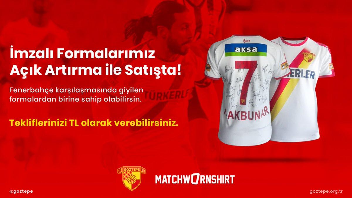 🚨Süper Lig'in 26. haftasında oynadığımız Fenerbahçe maçında giyilen formalar imzalı olarak @_MatchWornShirt'te satışta.  🔗Teklif vermek için; https://t.co/wa9VS6mtHB  #Göztepe https://t.co/zte41to2fr