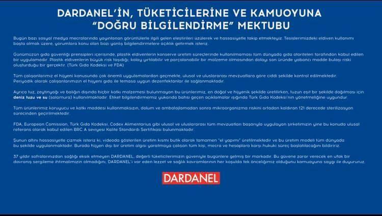 """""""Elle poşetleme"""" görüntüleri üzerinden, Dardanel'in yapmış olduğu açıklama üzerinden ufak bir """"Case Study"""" çalışması yapalım mı? https://t.co/o9bIjumLbM"""