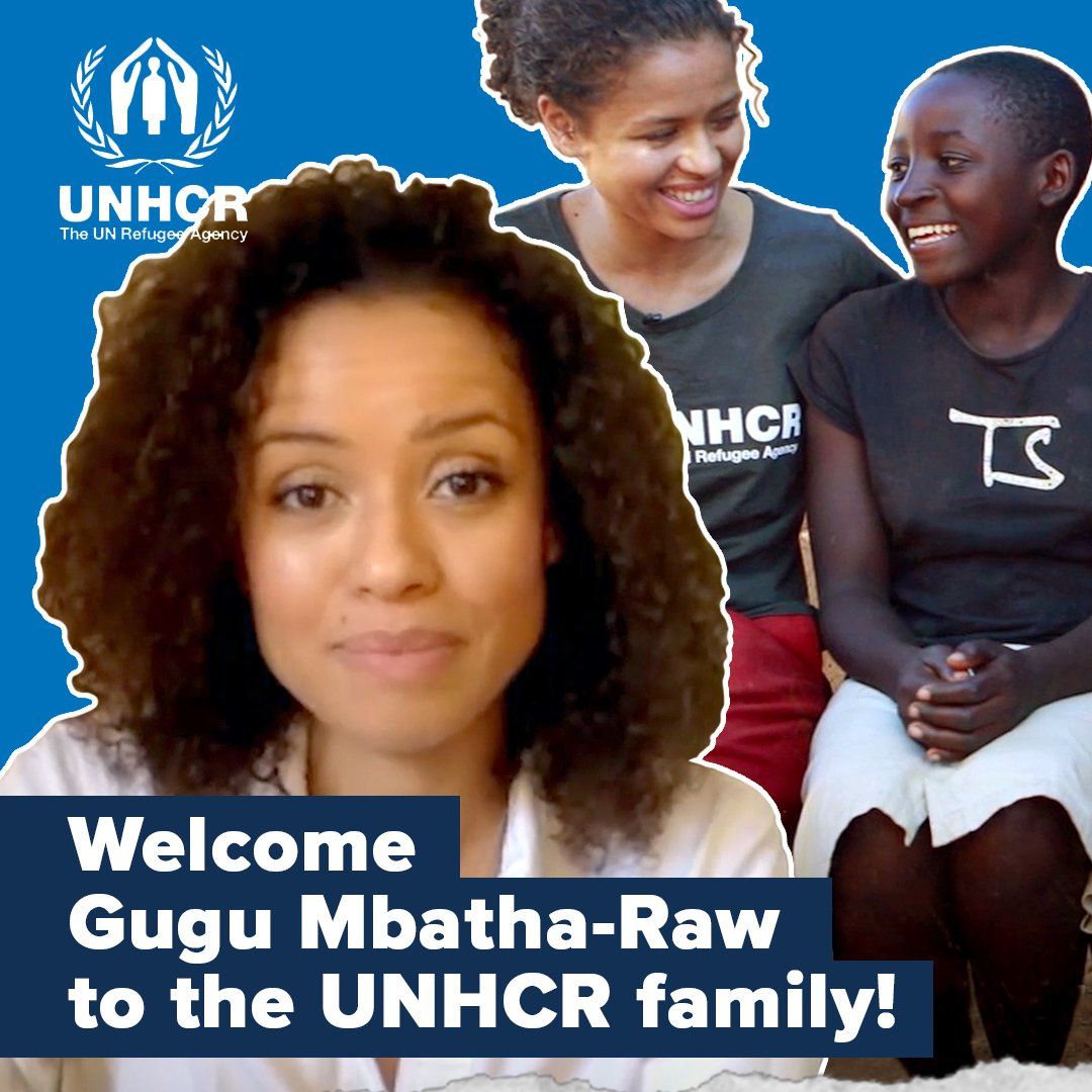 Replying to @Refugees: We're proud to welcome actor @GuguMbathaRaw as a  UNHCR Goodwill Ambassador! 💙