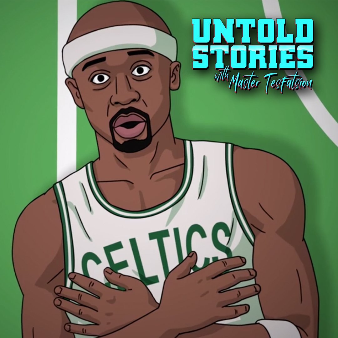 """Jason Terry tells @MasterTes the story behind getting a championship tattoo before the season, partying after winning the NBA title and of course…Bron dunking on him in Boston 🤣  New season of """"Untold Stories."""""""