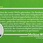 Image for the Tweet beginning: Bundesweite Debatte über #Corona-Maßnahmen: Licht am