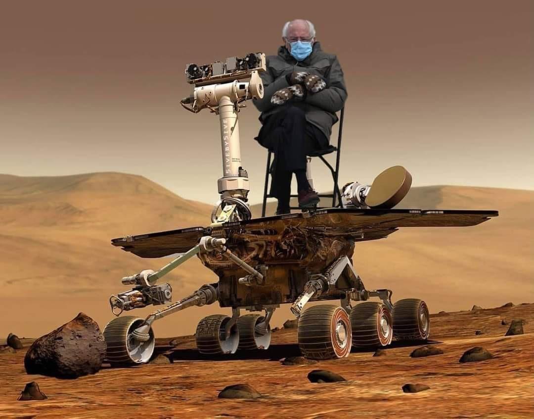 #mars2021 #MarsPerseverance #Perseverance #NASAPerseverance #BernieSanders #Berniememes #wednesdaythought #WednesdayMotivation ⭐️⭐️⭐️⭐️