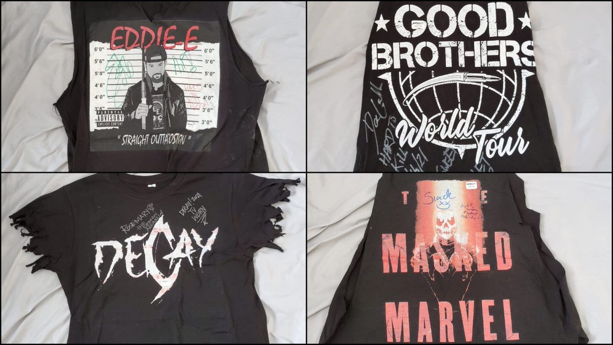 #HardToKill match-worn and autographed items are NOW available via the IMPACT! eBay store, bid on items worn by @TheEddieEdwards, @The_BigLG, Decay and Suicide!  Check out all items HERE:   #IMPACTUK